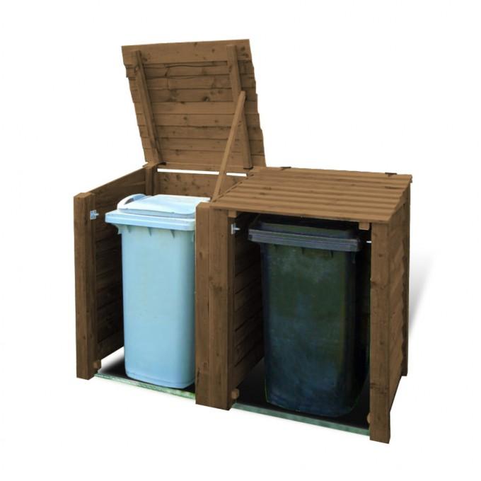 workington double wheelie bin storage unit garden storage rh gardenfurniture direct