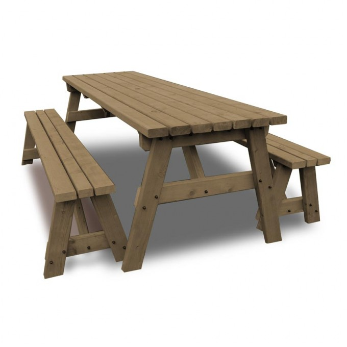 Langdale Picnic Table And Bench Set - Picnic Benches - Garden Furniture