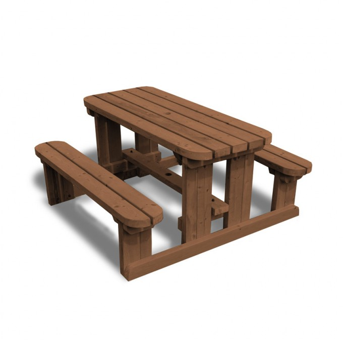 Enjoyable Newland Junior Picnic Bench Rounded Pabps2019 Chair Design Images Pabps2019Com