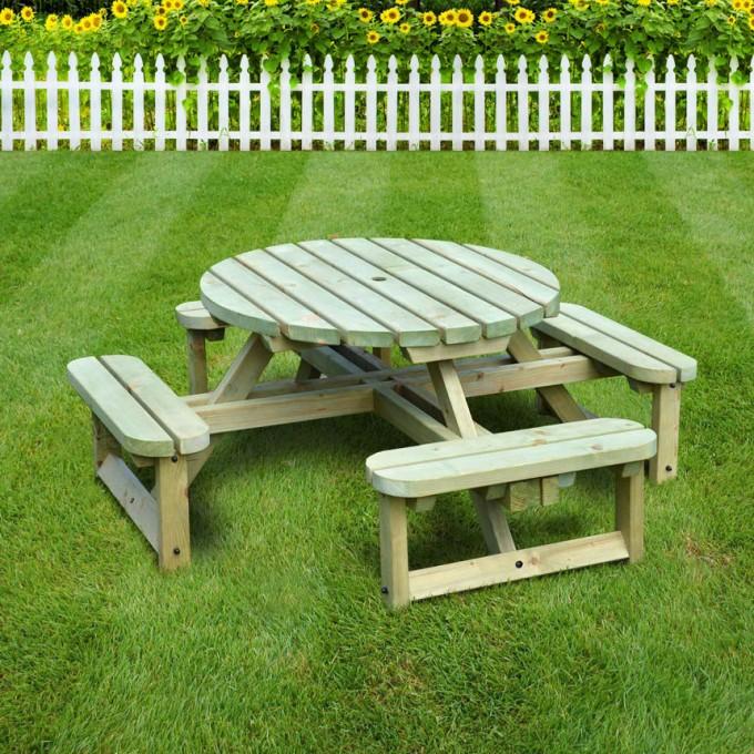 Windermere Junior Circular Bench Kids Picnic Tables Childrens Garden Furniture